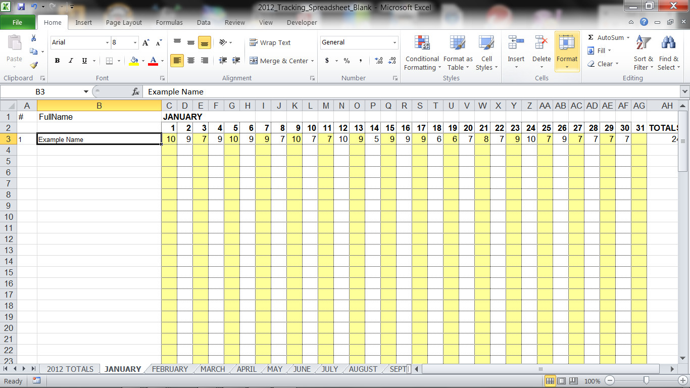vacation accrual excel spreadsheet