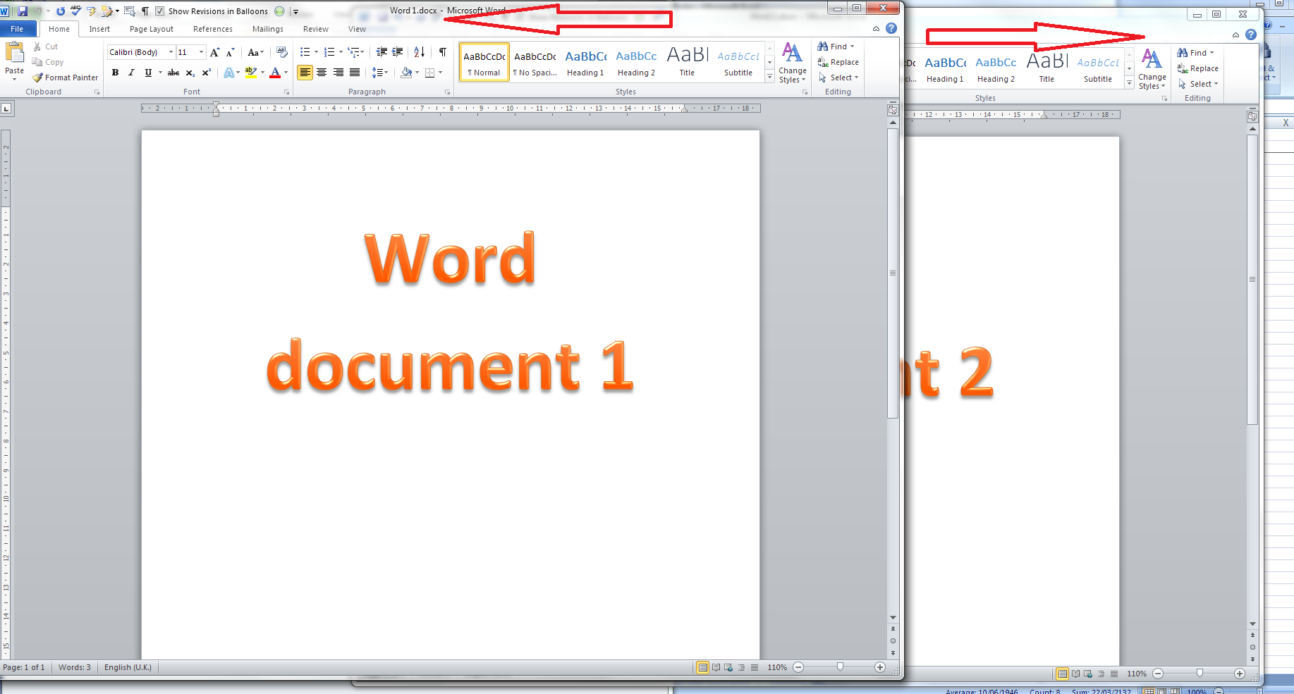 view 2 excel sheets side by side