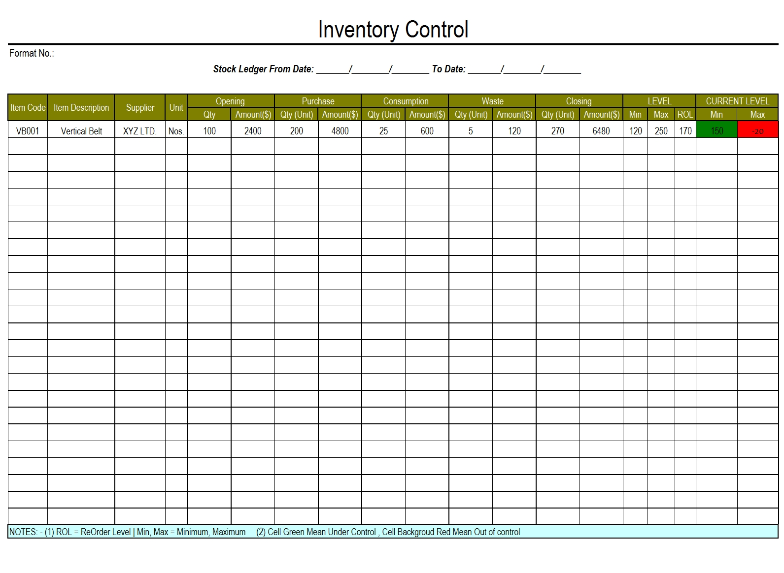 warehouse inventory management spreadsheet download