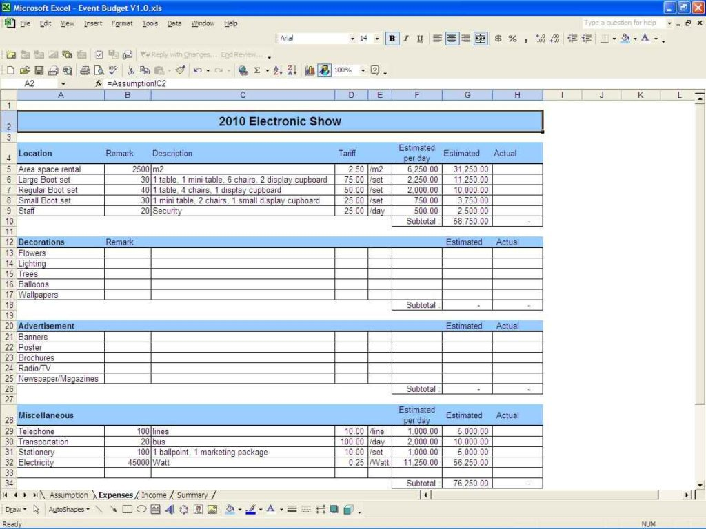 wedding budget spreadsheet google docs