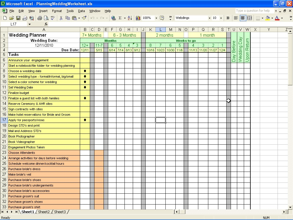 wedding expenses list spreadsheet download
