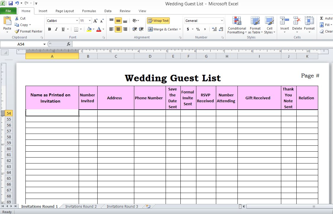 wedding guest list manager