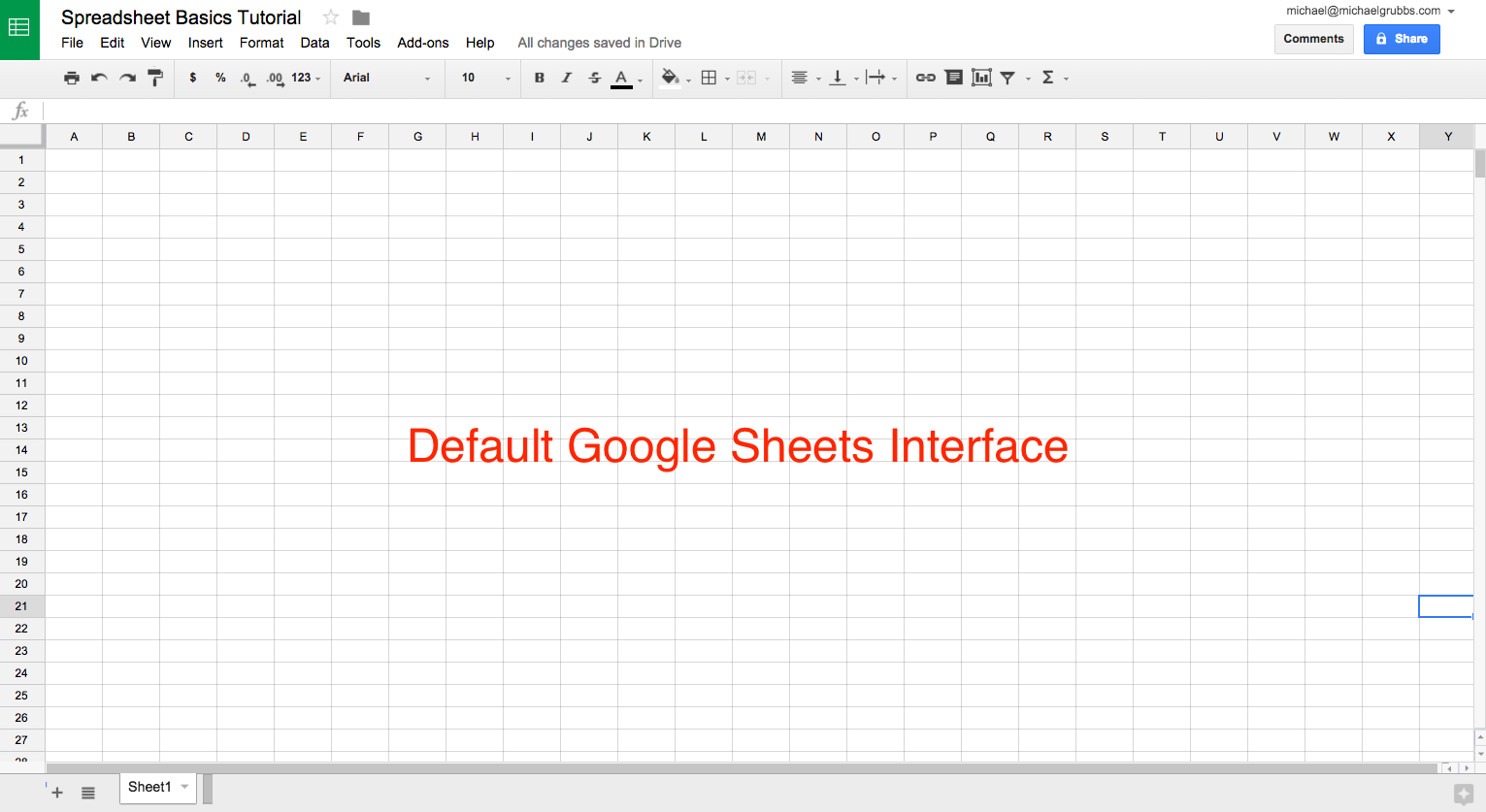 what does a spreadsheet look like