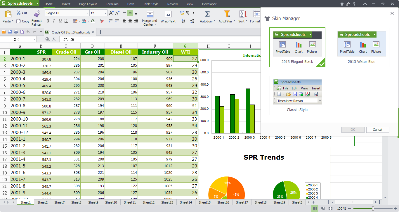 what is electronic spreadsheet software